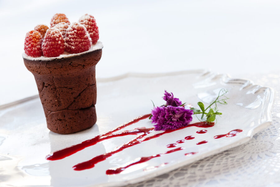 Liefdevolle sticky chocolade cake